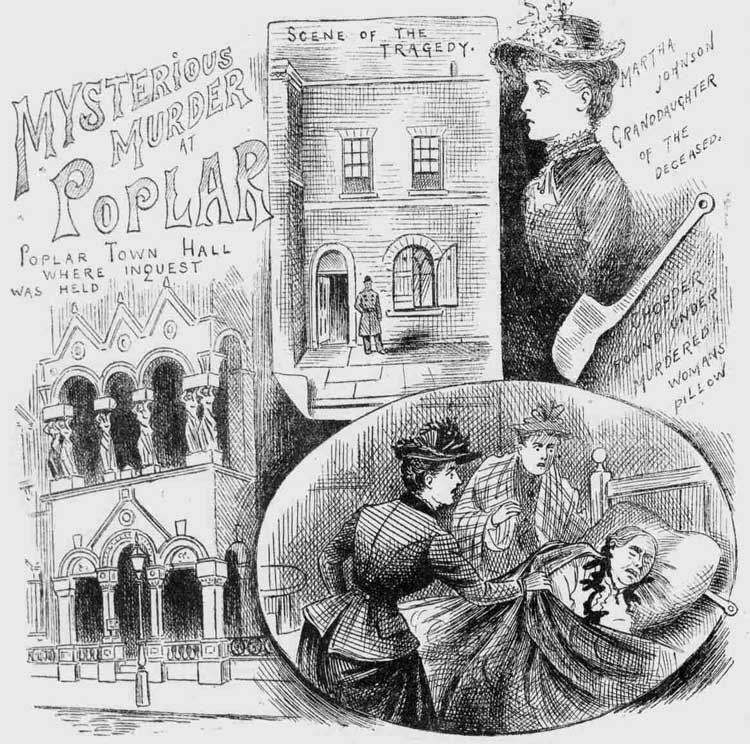 Illustrations showing the Poplar Murder.