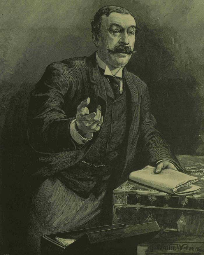 A portrait showing Charles Ritchie in Parliament.