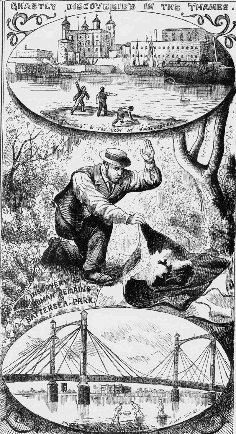 Illustration showing the Thames Mystery.