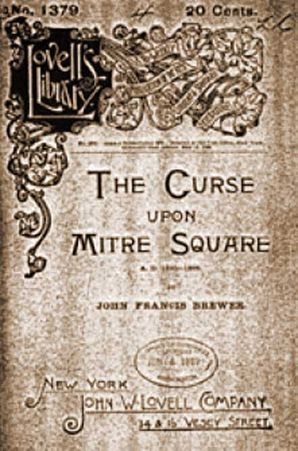 """The inside title Page """"The Curse Upon Mitre Square."""""""