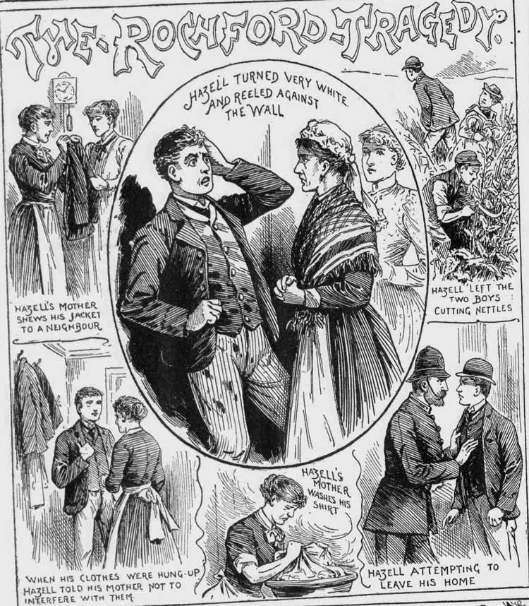 Illustration showing Hazell with his mother.