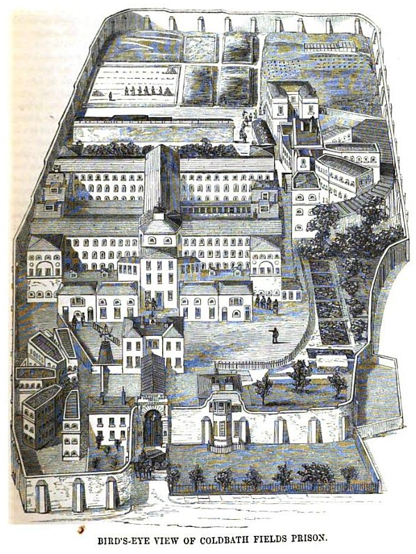 A view of Cold Bath Fields Prison.