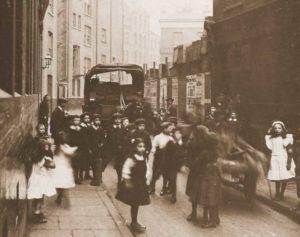 A group of Children in Bell Lane, Spitalfields.