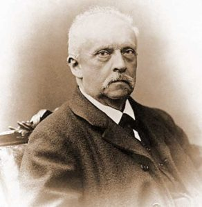 A photograph of Hermann von Helmholtz.