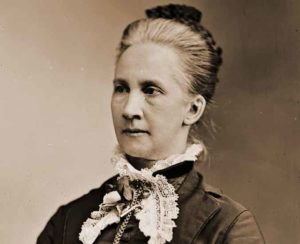 A portrait photograph of Belva Lockwood.