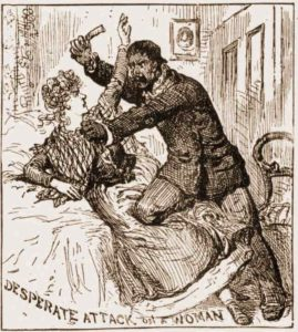 An illustration showing Gubee attacking his victim.