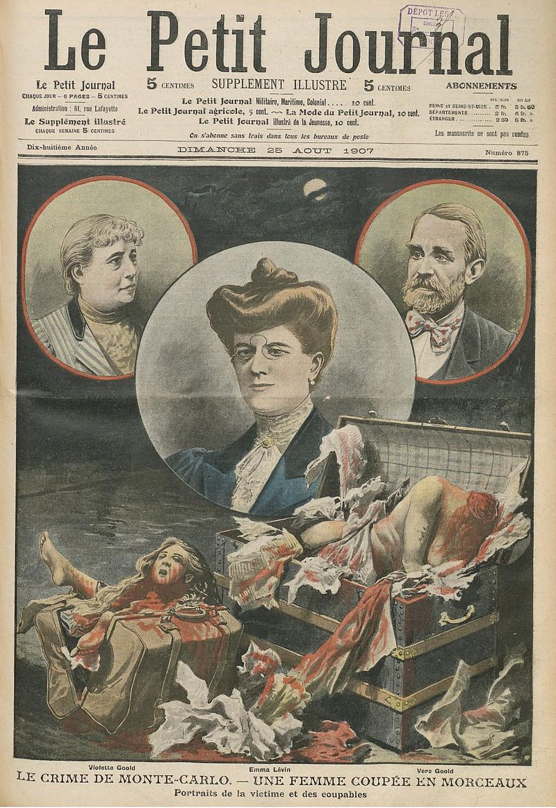 The front cover of a French newspaper showing the Goold case.