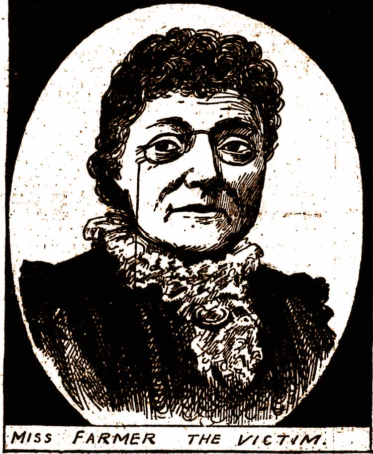 A portrait of Miss farmer.