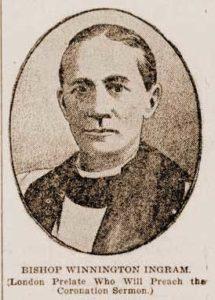 A sketch of Bishop Winnington Ingram.