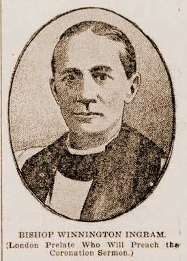 A sketch of Bishop Winnington Ingram.