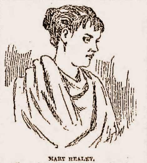 A sketch of Mamie Healey.