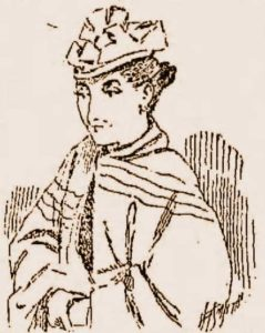 A sketch of Mary Miniter.