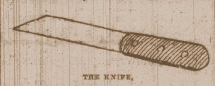 A sketch of the knife.