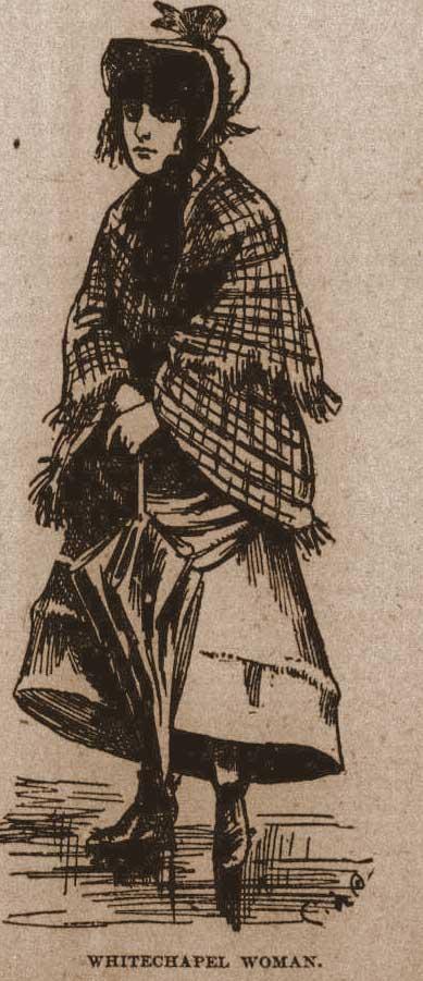 A sketch of a Whitechapel woman.