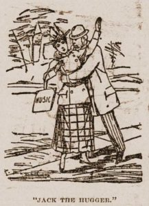 A skecth showing a man hugging a girl.