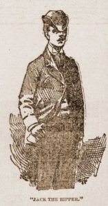 A sketch of what Jack the Ripper was thought to look like.
