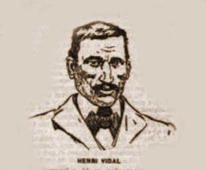 A sketch of Henry Vidal.