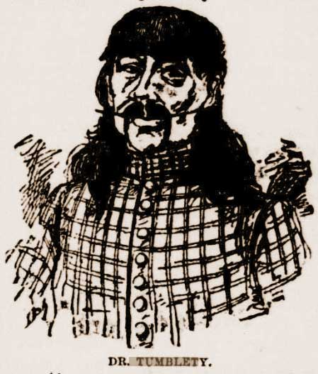 A sketch of Dr Francis Tumblety.