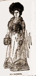 A sketch of the murdered woman.