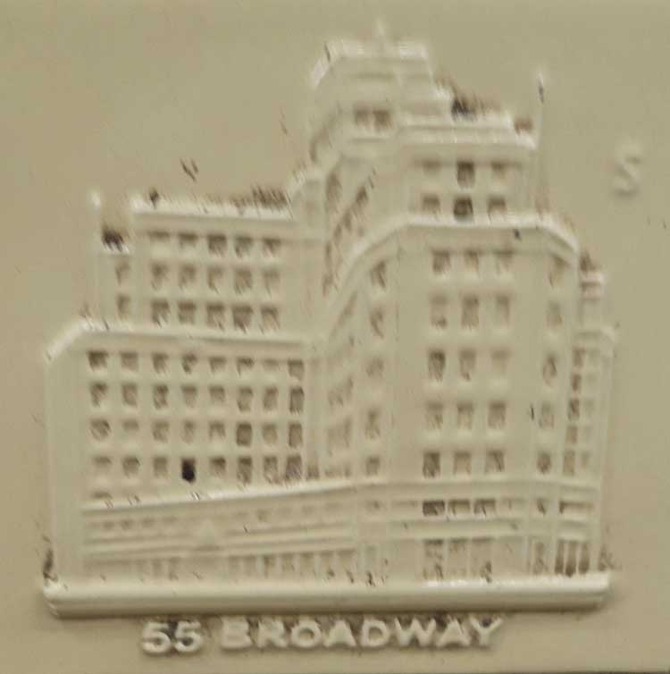 A tile Showing 55 Broadway.