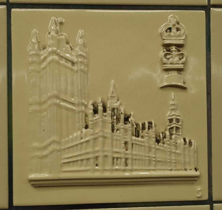 A tile depicting Houses of Parliament