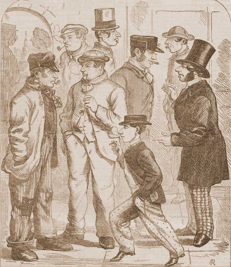 Sktetches of the various types of people to be encountered in Whitechapel.