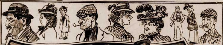 Sketches showing some of the people of Whitechapel.