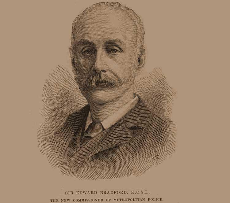 A portrait of Sir Edward Bradford.