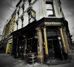A photo of the exterior of The Ten Bells Pub.