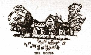 A sketch of Balmoral House where the murder occurred.