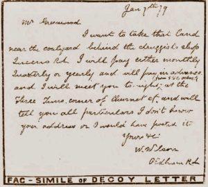 A facsimile of the letter.