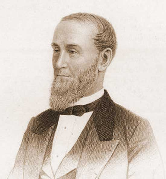 A portrait of Alexander Turney Stewart.