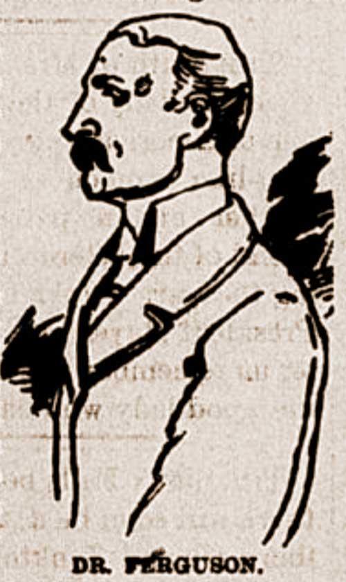 A sketch of Dr Ferguson.