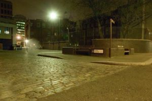 A view of Mitre Square By Night.