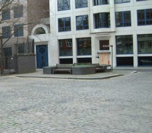A view of the Flower bed in Mitre Square.