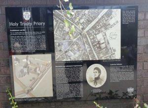 The History Board In Mitre Square.