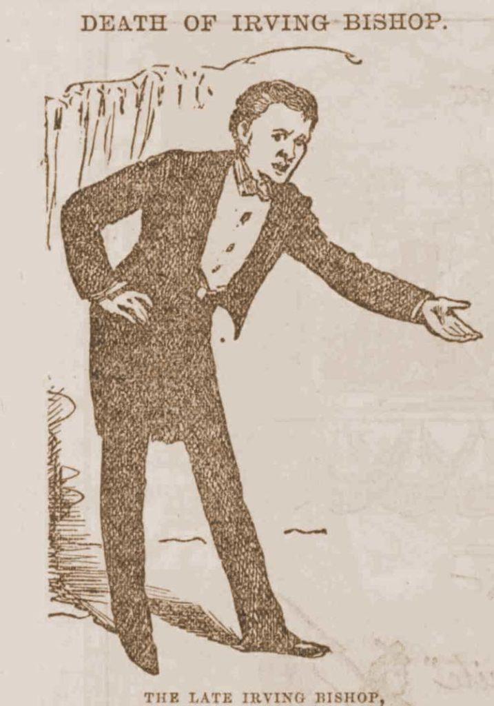 A sketch of Washington Irving Bishop.