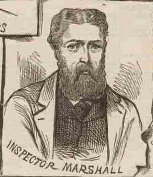 A sketch of Inspector Marshall.