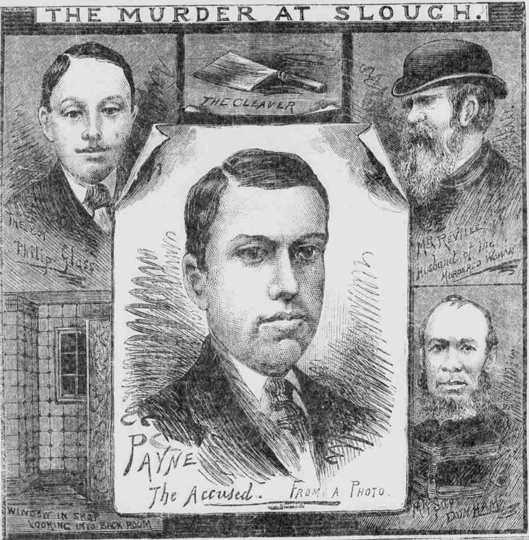 Sketches of those involved involved in the murder.
