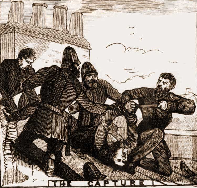 Wright is captured by the police.
