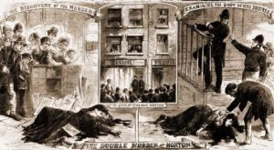 Illustrations of the murder.