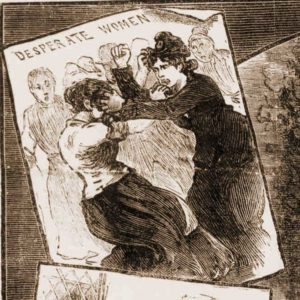The two women fighting in court.