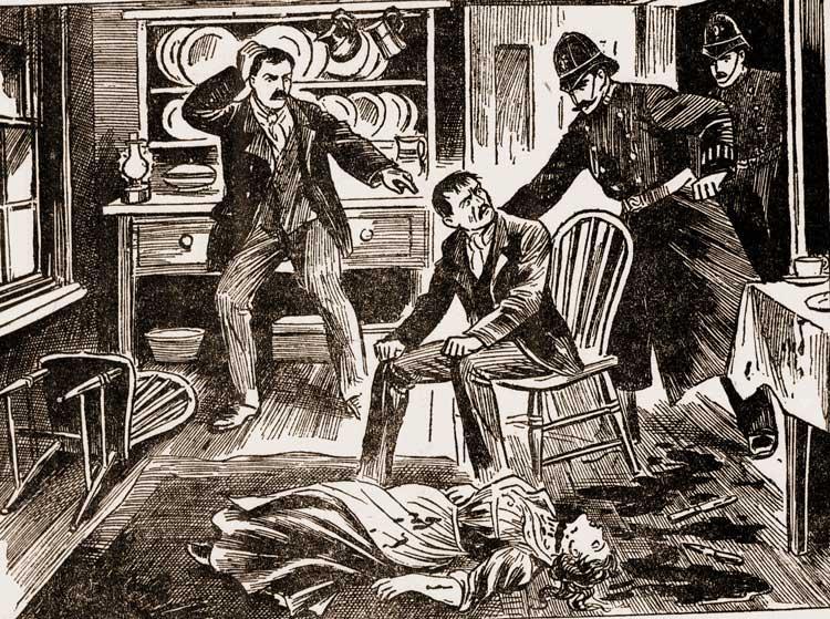 The murder scene.