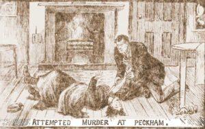 Framk Hall attempts to murder Sarah Brett.