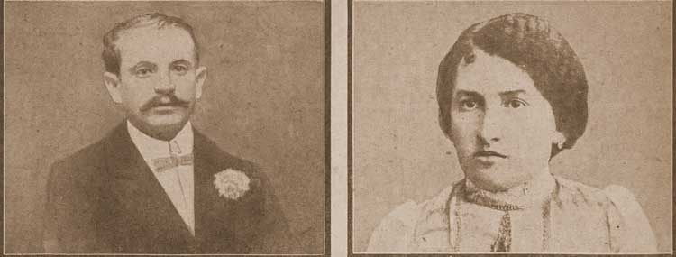 A photograph of Samuel and Annie Millstein, the murdered couple.