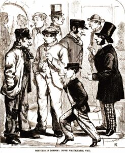 An illustration showing some of the people of Whitechapel.