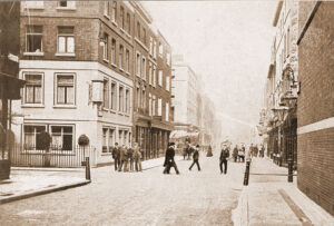 A view along Greek Street in 1906.