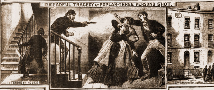 An illustration showing the shooting taking place.