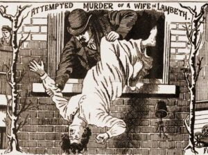 A man attempts to murder his wife by pushing her from a window.
