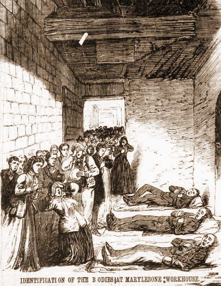 Bodies laid out in the Workhouse.